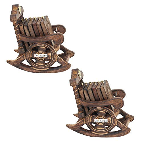 Wooden Chair Coaster Set Pack of 2