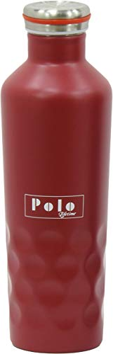Vaccum Insulated Stainless Steel Screw Cap Dotted Design Bottle - Hot/ (Red500ml)