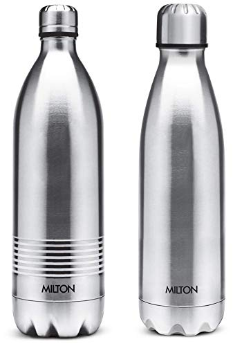 Thermosteel Duo Deluxe-1000 Bottle Style Vacuum Flask 1 Litre Silver + Shine 800 Stainless Steel Water Bottle 690 ml Steel Plain
