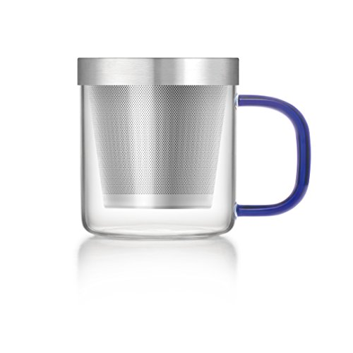 Transparent Tea Mug with Heat Resistant Stainless Steel Infuser & Lid Perfect Tea Cup for Office and Home Uses Suitable for Teabags Loose Leaf & Fine Leaf Tea (300ml), 6 image