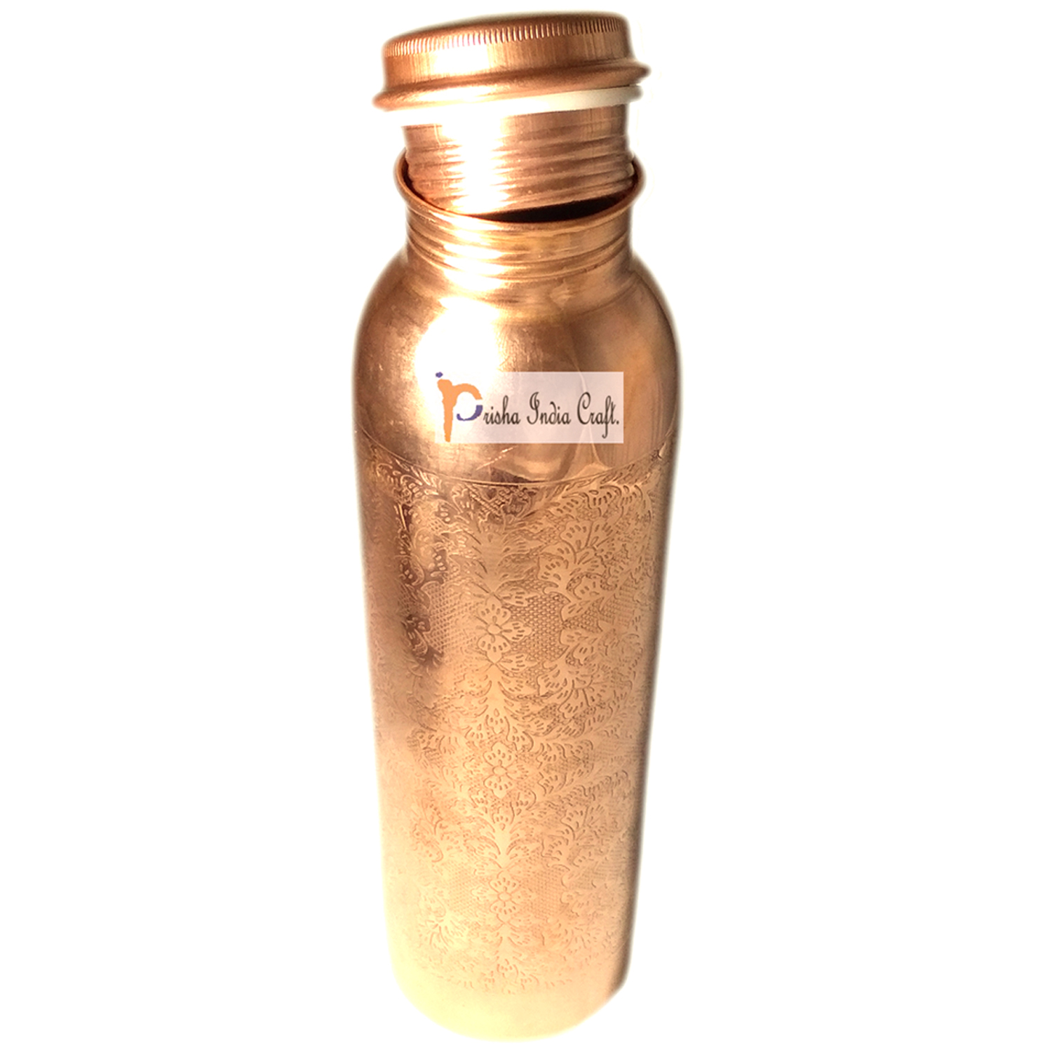 Copper Bottle with New Designed, Travel Essential, Drinkware, Pure Copper Water Bottle 900 ML | Set of 2, 3 image