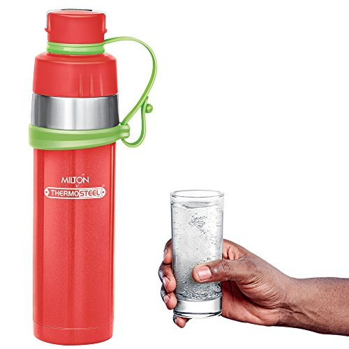 GIST Stainless Steel Water Bottle 480 ml Red, 5 image