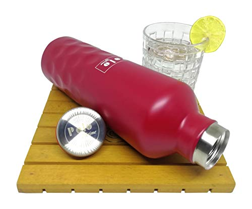 Vaccum Insulated Stainless Steel Screw Cap Dotted Design Bottle - Hot/ (Red500ml), 2 image