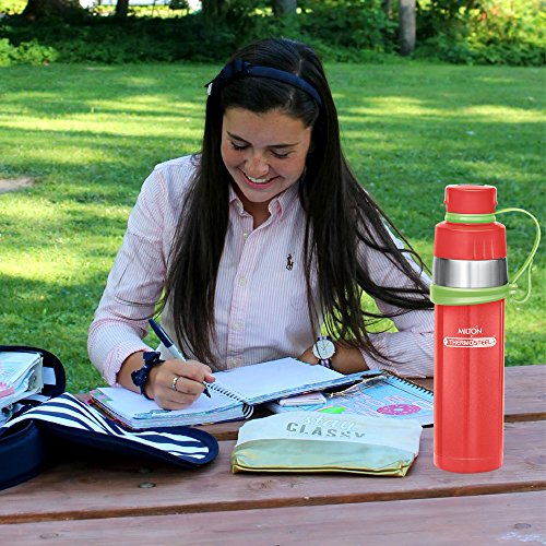 GIST Stainless Steel Water Bottle 480 ml Red, 6 image