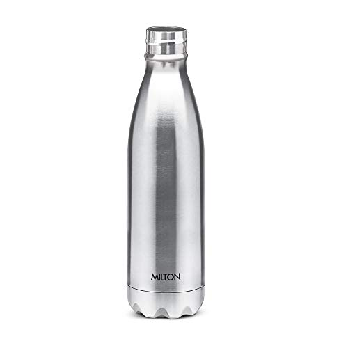 Thermosteel Duo Deluxe-1000 Bottle Style Vacuum Flask 1 Litre Silver + Shine 800 Stainless Steel Water Bottle 690 ml Steel Plain, 6 image