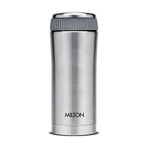 Thermosteel Duo Deluxe-1000 Bottle Style Vacuum Flask 1 Litre Silver + Thermosteel Optima 420 Stainless Steel Flask 420ml Steel, 5 image