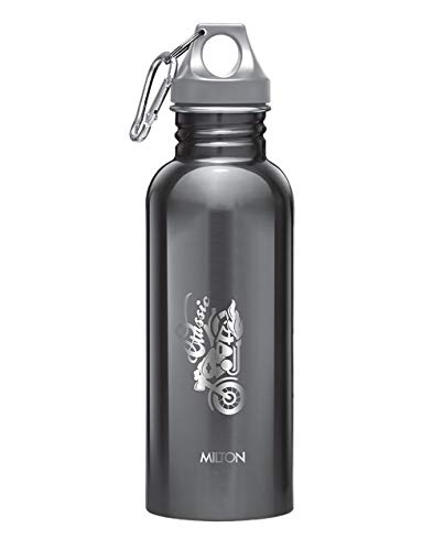 Thermosteel Duo Deluxe-1000 Bottle Style Vacuum Flask 1 Litre Silver + Alive 750 Stainless Steel Water Bottle 750 ml Black, 5 image