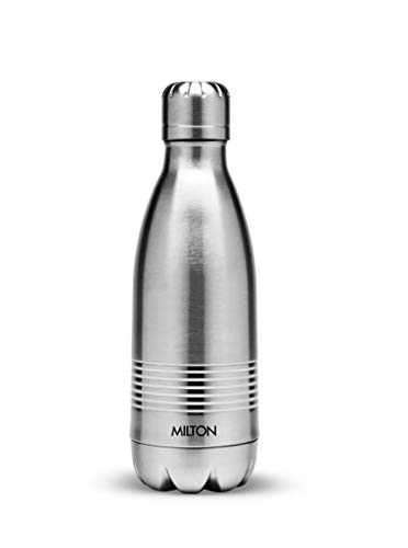 Thermosteel Duo Deluxe-1000 Bottle Style Vacuum Flask 1 Litre Silver + Duo DLX 350 Bottle 350 ml Silver, 5 image