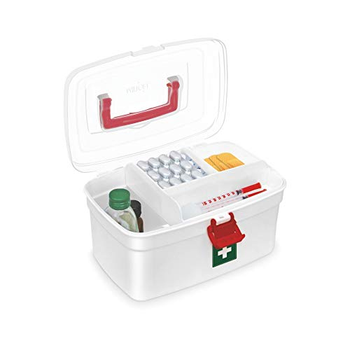 Duo DLX 1000 Thermosteel 24 Hours Hot and Water Bottle 1 Litre Silver + Medical Box, 6 image