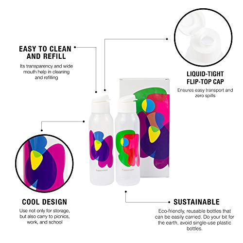 Cool n Chic Bright n Chirpy Plastic Bottle 750ml Set of 2 White, 6 image