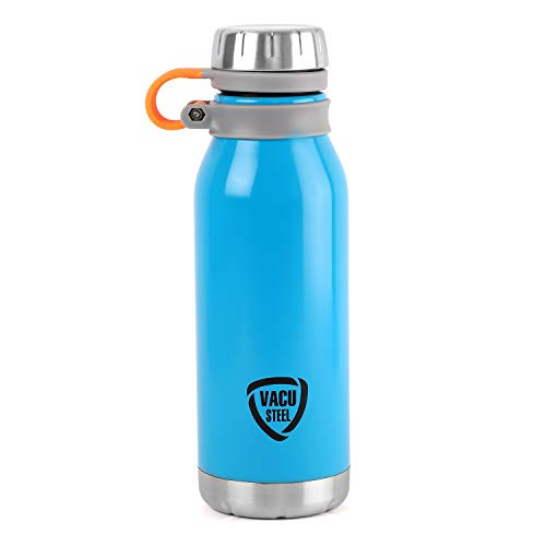 Cello Storm Stainless Steel Double Walled Water Bottle Hot and Cold 750ml 1pc Blue