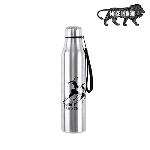 Cello Goldie Stainless Steel Water Bottle 1000 ml Set of 1 Silver