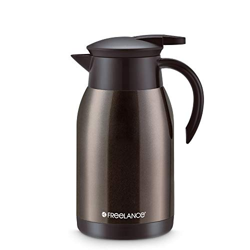 Freelance Vacuum Insulated Stainless Steel Flask Water Beverage Travel Bottle Jug Airpot 1000 ml Coffee (1 Year )