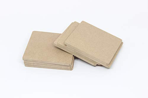 Do-it-Yourself Plain MDF Coasters Set of 100- for Activity - decoupage (4in X 4in)