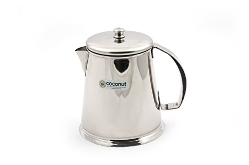 Coconut T1 Tea Pot - 500 ml - Small Beverage Serving Kettle - Stainless Steel