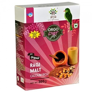 Organic Without Chemicals Pesticides No Added Sugar Sprouted Ragi Malt 600 g Energy Health Drink Powder Mix for Kids Children Adults