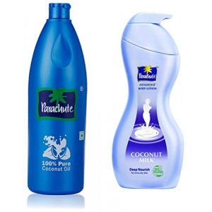 100% Pure Coconut Oil 600 ml (Bottle) And Advansed Body Lotion Deep Nourish 400 ml