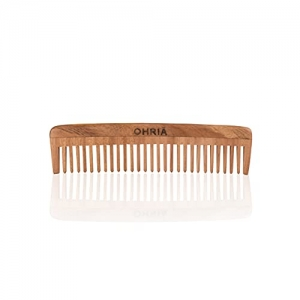 Ohria Ayurveda Natural Neem Wooden Comb For Hair Growth | Anti-Hairfall & Dandruff Comb