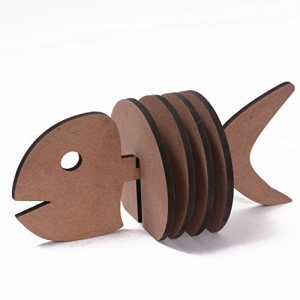 DIY MDF Fish Holder with Coasters - Set of 4 / Fish Coasters/for Craft/Activity/Decoupage/ting/Resin Work