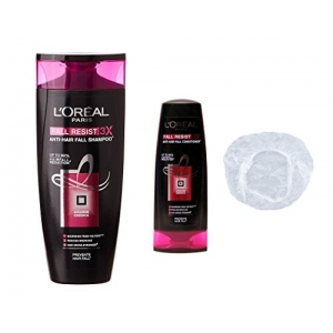 Anti-Hair Fall Resist 3X Shampoo Conditioner and Shower Cap Combo 175ml - Set of 3
