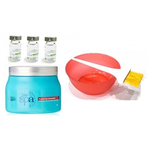 Repairing Mask Hydrating Ampoules Mixing Bowl Dye Brush Hair Spa Set of 6 with Ayur Product in Combo