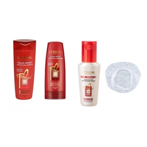 Color Protect Set of 4 (Shampoo 175 ml+Conditioner+Serum+Shower Cap) with Ayur Product in Combo