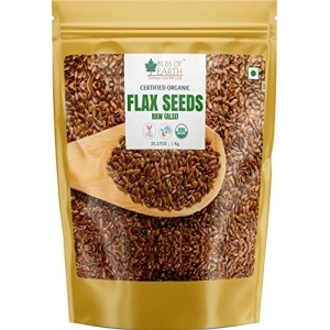 Bliss of Earth 1kg USDA Organic Raw Flax Seeds for Eating and Weight Loss Rich in Omega