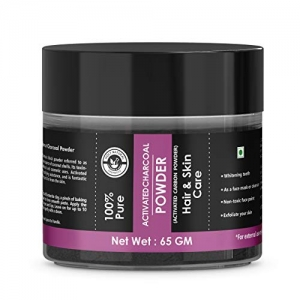 Activated charcoal powder for Teeth Skin Face - 65 GM