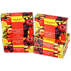 Super Value Fruit Splash Soap with Extracts of Orange Peach Green Apple and Lemon 75gms x 6