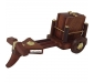 Wooden Tea Coffee Coaster Set CART Shape ? Office Home Decor Dining Accessory (Brown 7.5 x 4 x 3 inch)