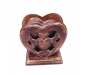 Wooden Heart Shape Wooden Tea Coster Suitable for Wine Glasses Beer Bottles Whiskey Glasses and Any Hot and Cold Drinks