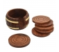 Wooden Tea Coaster Wooden Drink Coaster Wooden Table Coaster Set of 6 (Dimension - Length - 4 Width - 4 Height - 2 Inch Weight - 300 Grams) Decorative Holder Tabletop Coasters