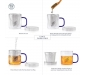 Transparent Tea Mug with Heat Resistant Stainless Steel Infuser & Lid Perfect Tea Cup for Office and Home Uses Suitable for Teabags Loose Leaf & Fine Leaf Tea (300ml), 4 image