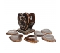 Wooden Heart Shape Wooden Tea Coster Suitable for Wine Glasses Beer Bottles Whiskey Glasses and Any Hot and Cold Drinks, 5 image