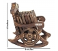 Traditional Coaster Set Hut with Antique Design Wooden Chair Coaster Set Pack of 2, 4 image