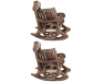 Wooden Chair Coaster Set Pack of 2, 3 image