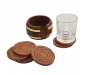 Wooden Tea Coaster Wooden Drink Coaster Wooden Table Coaster Set of 6 (Dimension - Length - 4 Width - 4 Height - 2 Inch Weight - 300 Grams) Decorative Holder Tabletop Coasters, 3 image