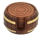 Wooden Tea Coaster Wooden Drink Coaster Wooden Table Coaster Set of 6 (Dimension - Length - 4 Width - 4 Height - 2 Inch Weight - 300 Grams) Decorative Holder Tabletop Coasters, 2 image