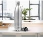 Thermosteel Duo Deluxe-1000 Bottle Style Vacuum Flask 1 Litre Silver + Shine 800 Stainless Steel Water Bottle 690 ml Steel Plain, 3 image