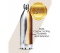 Thermosteel Duo Deluxe-1000 Bottle Style Vacuum Flask 1 Litre Silver + Duo DLX 350 Bottle 350 ml Silver, 4 image