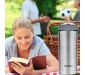 Thermosteel Duo Deluxe-1000 Bottle Style Vacuum Flask 1 Litre Silver + Thermosteel Optima 420 Stainless Steel Flask 420ml Steel, 6 image