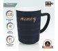 Premium Quality Porcelain Mug with Spoon for Coffee , Tea , Milk , Beverages 450 ML - Blue Color - Pack of 1, 3 image