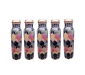 Leak Proof Pure Copper Colourful Hexagon Sticker Bottles for Water 1 Litre for Travelling, 2 image