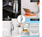 Cello Goldie Stainless Steel Water Bottle 1000 ml Set of 1 Silver, 6 image