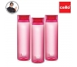 Cello H2O Round Plastic Water Bottle 750ml Set of 3 Pink, 2 image