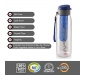 Cello Infuse Plastic(PET) Water Bottle with Infuser 800ml Set of 2 Assorted, 3 image
