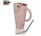 Premium Quality Porcelain Mug with Metal Straw for Coffee , Tea , Milk , Beverages 500 ML - Pink Color - Pack of 1